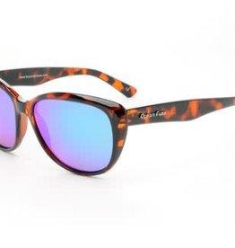 Ocean Eyes Ocean Eyes Kauai Tortoise, Green Mirror Amber Sunglasses
