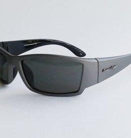Ocean Eyes Ocean Eyes Fish On Matte Gun Metal, Smoke Sunglasses
