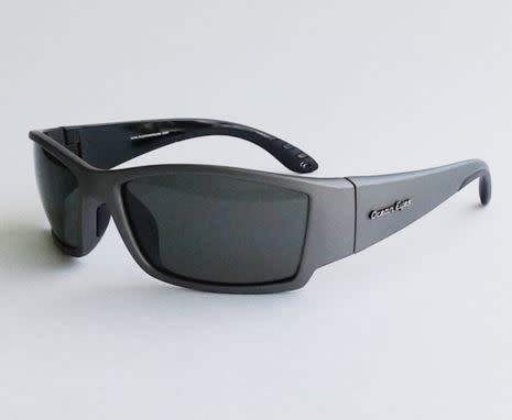 Ocean Eyes Ocean Eyes Fish On Matte Gun Metal, Smoke Sunglasses
