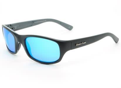 Ocean Eyes Ocean Eyes Bombora Matte Black, Blue Mirror Smoke Sunglasses