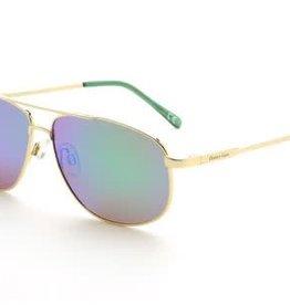 Ocean Eyes Ocean Eyes Everglades Gold, Green Mirror Smoke Sunglasses