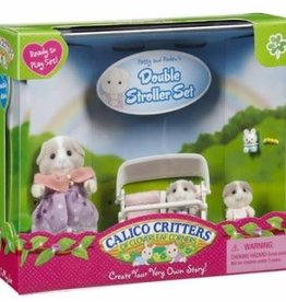 Epoch Calico Critters Patty & Paden's Double Stroller Set