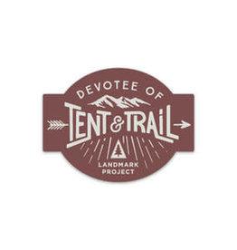 The LandMark Project LMP  Devotee of Tent & Trail Sticker