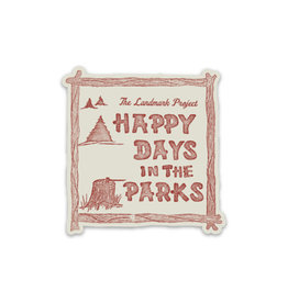 The LandMark Project LMP  Happy Days in the Parks Sticker