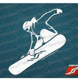 Sportstickers Mini Freestyle Snowboarding – Female – White