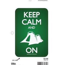 Sportstickers Keep Calm - Tent