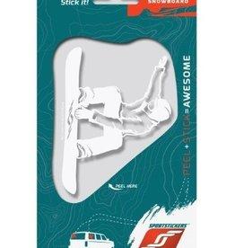 Sportstickers Freestyle Snowboarding - Male - White