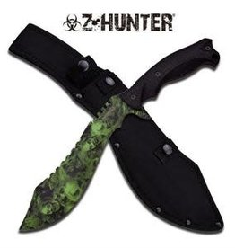 Z Hunter Kukri with Sheath, green