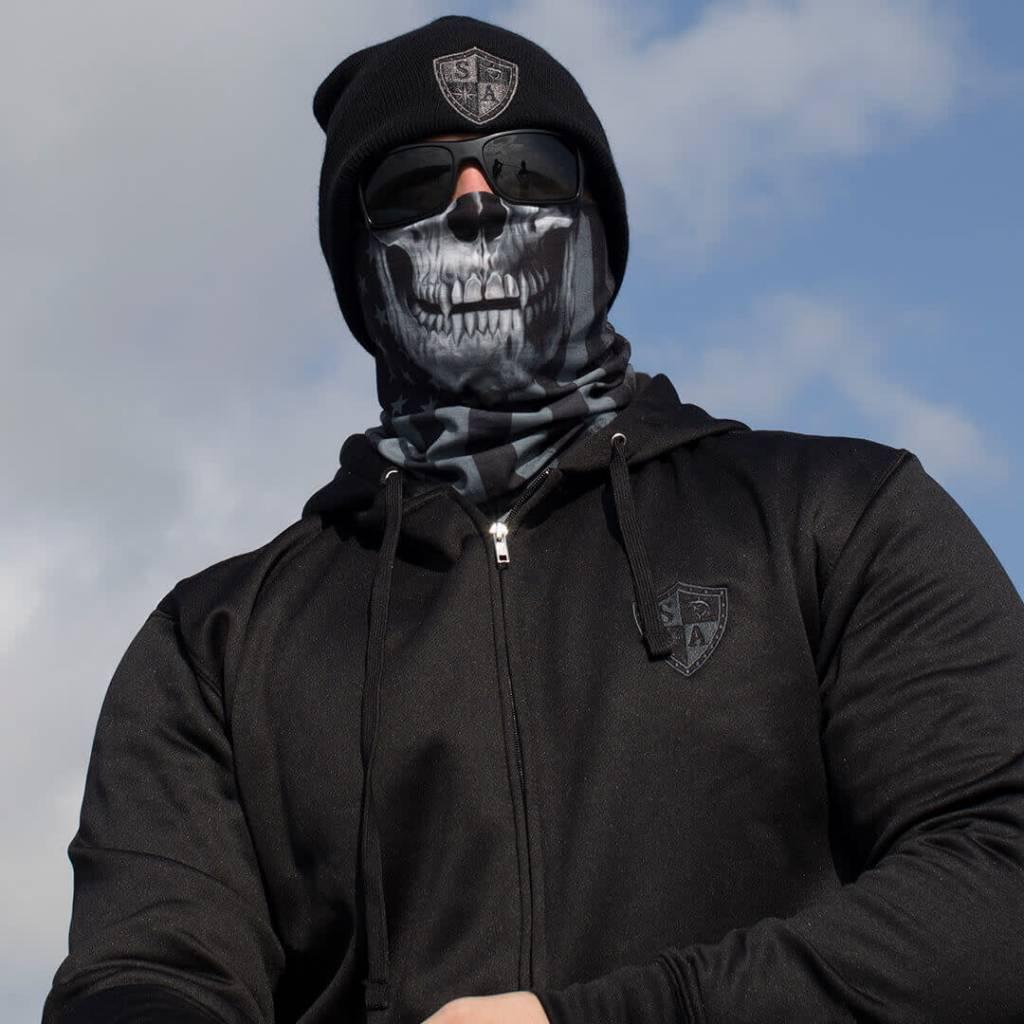 a0ba0e9ff68 Sa Company Face Shields Black Out American Flag Skull - TrailWalker ...