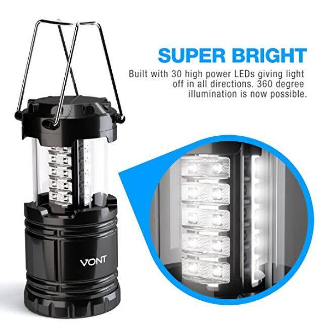 TrailWalker Gear LED Lantern, 30-LED Super bright