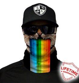 SA Company Face Shield Rainbow Cat