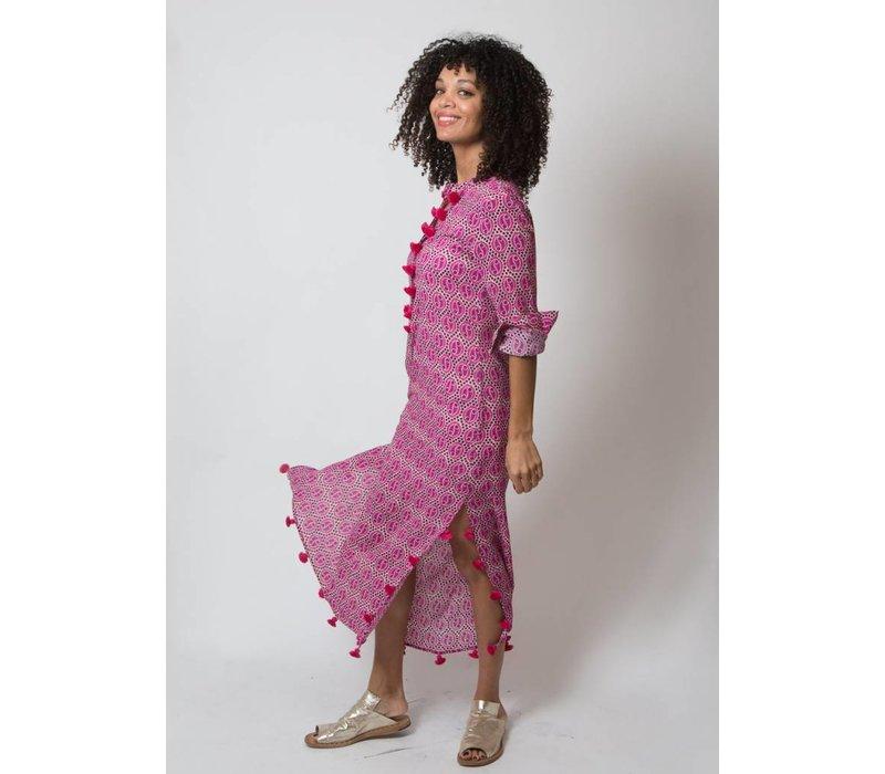 Figue Paolina Kaftan Paisley Pink
