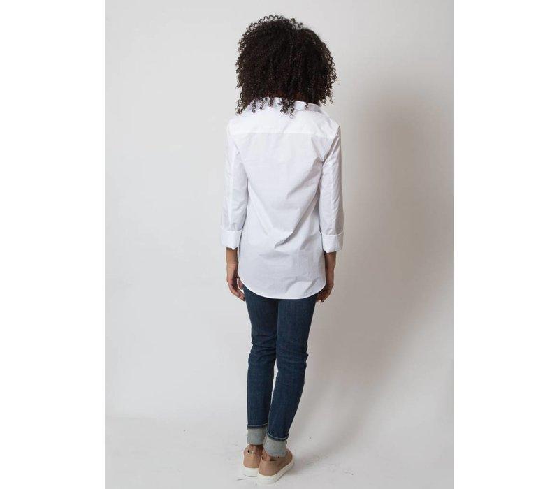 Odeeh Lapel Collar Blouse White