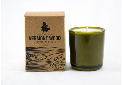 Farmhouse Pottery Vermont Wood Birch Candle