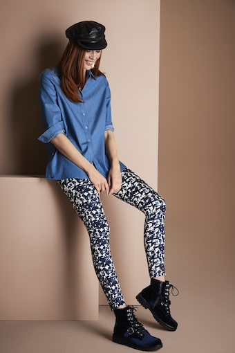 LISETTE LISETTE BLUE CHROME ANKLE PANT