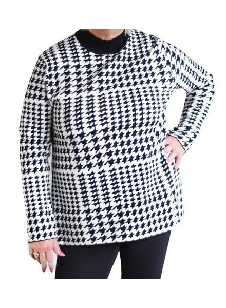 UCHUU HOUNDSTOOTH SWEATER