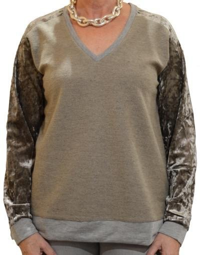 MYSTEREE VELVET MIX SWEATER