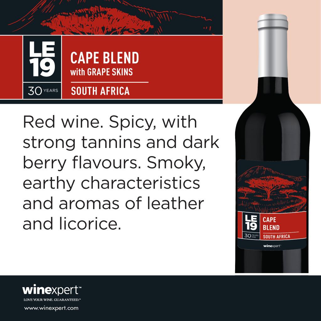 LE2019 Cape Blend w/Skins, South Africa Deposit