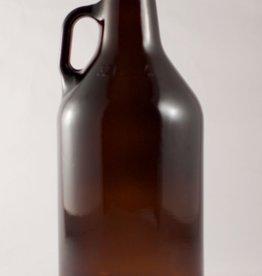 LDC Amber 1/4 Gallon (32 Oz) Growler Glass Jug Single Howler