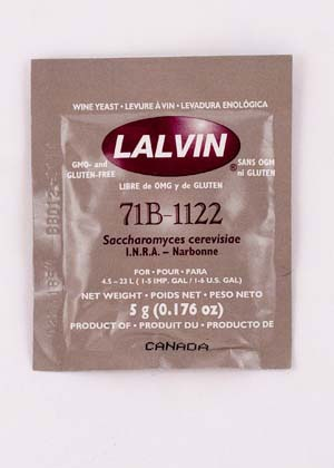 Lalvin 71B-1122 Lalvin Active Freeze Dried Wine Yeast