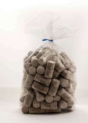 LDC 9 X 1 3/4 First Quality Straight Wine Corks 100/Bag