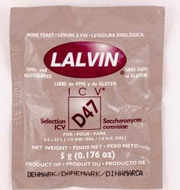 Lalvin D-47 Lalvin Active Freeze Dried Wine Yeast