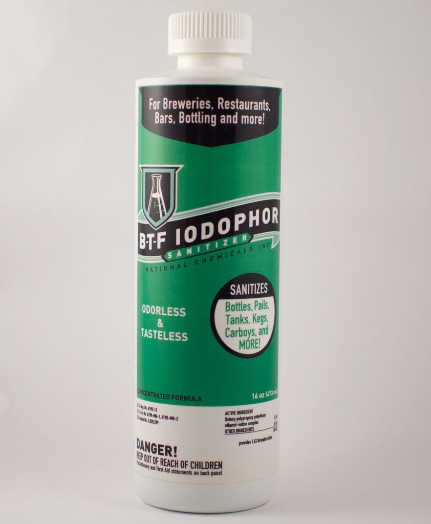 National Chemicals Inc. 16 Oz Iodophor BTF Sanitizer