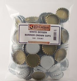 LDC White Crown Caps With Oxy-liner, 144/bag