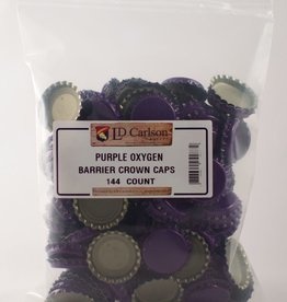 LDC Purple Crown Caps With Oxy-liner 144/bag