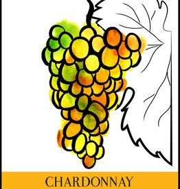 LDC Chardonnay Wine Labels 30/pack