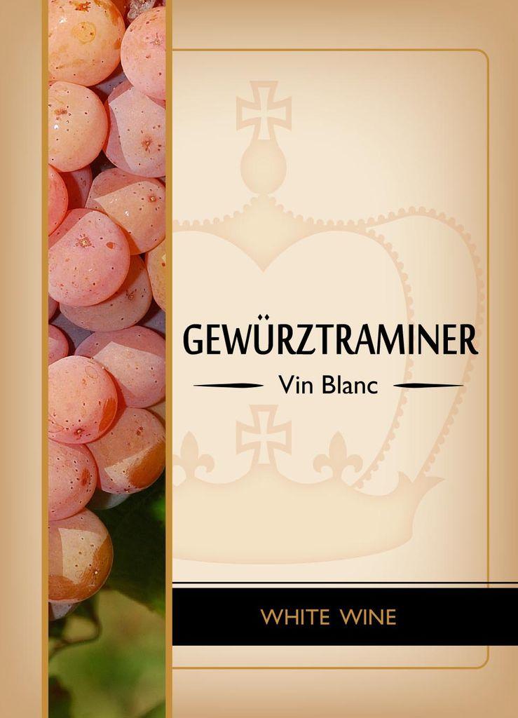 LDC Gewurtztraminer Wine Labels 30/pack