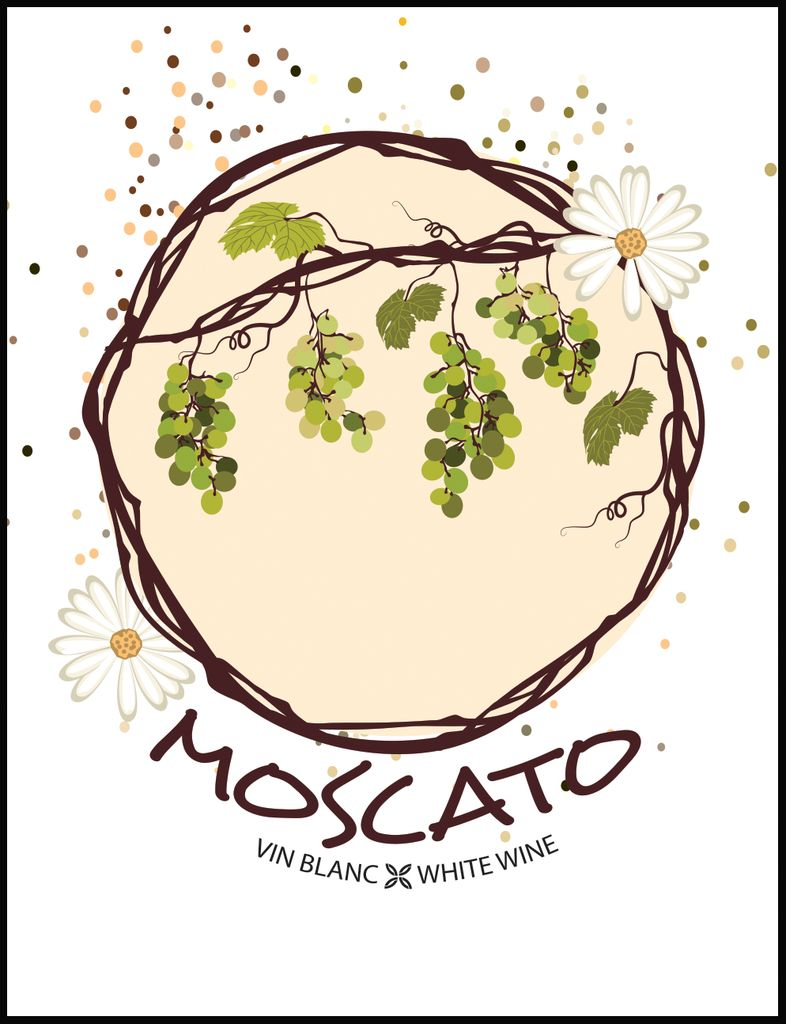 LDC Moscato Wine Labels 30/pack