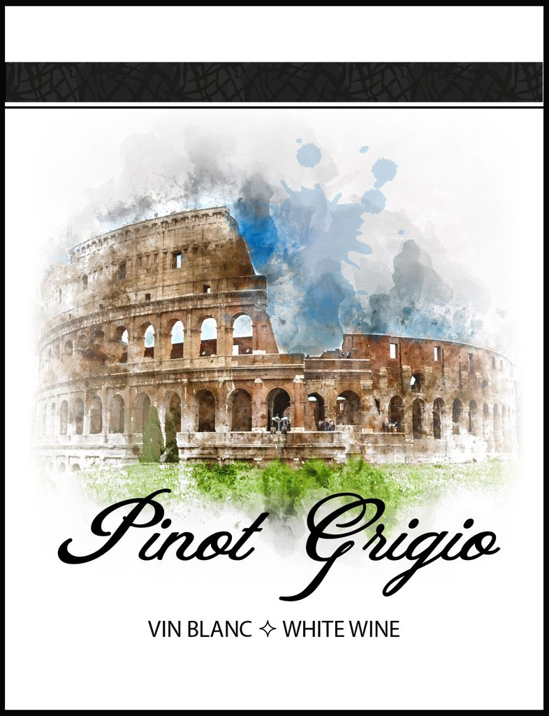 LDC Pinot Grigio Wine Labels 30/pack