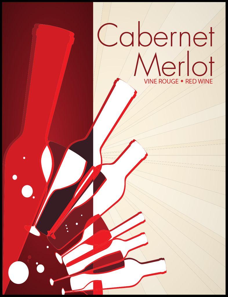 LDC Cabernet Merlot Wine Labels 30/pack
