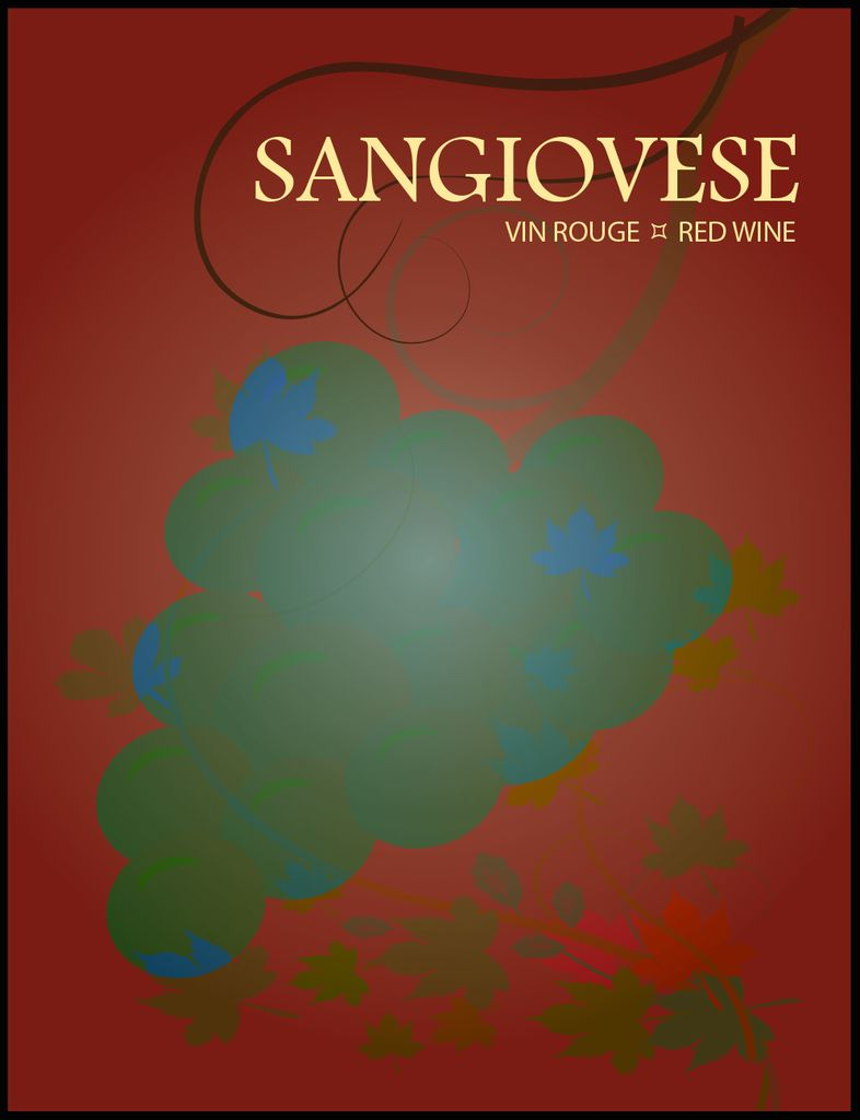 LDC Sangiovese Wine Labels 30/pack