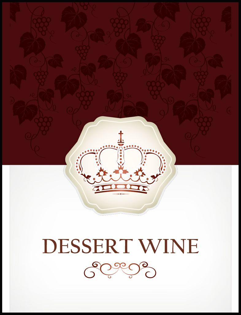 LDC Dessert Wine Labels 30/pack