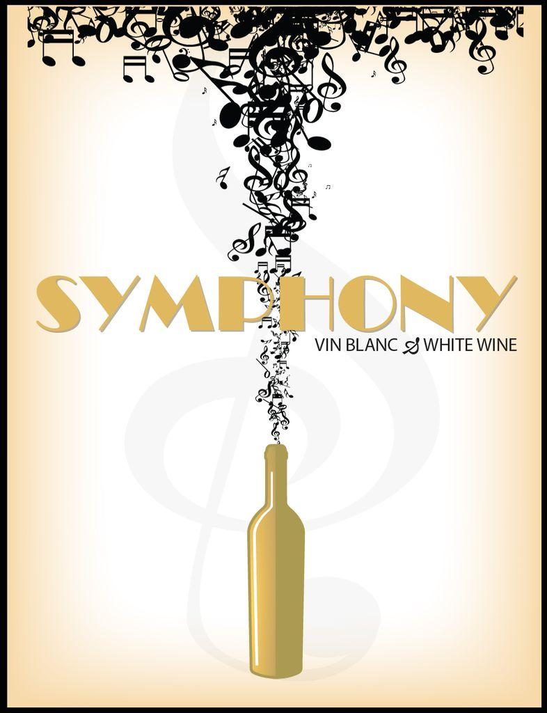 LDC Symphony Wine Labels 30/pack