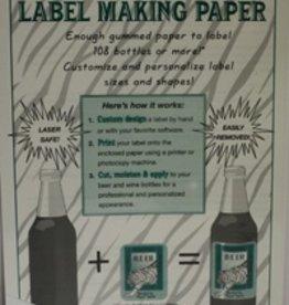 LDC White Label-making Paper Pk/18