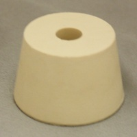 LDC #7.5 Drilled Rubber Stopper