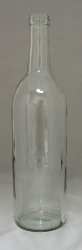 LDC 750 mL Clear Optima Bordeaux Flat Bottom Bottles (12/case)
