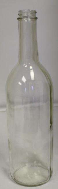 LDC 750 mL Clear Screw Top Bordeaux Wine Bottles (12/case)