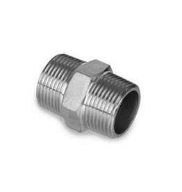 "LDC 1/2"" NPT Stainless Steel Hex Nipple for Valve to Bulkhead"