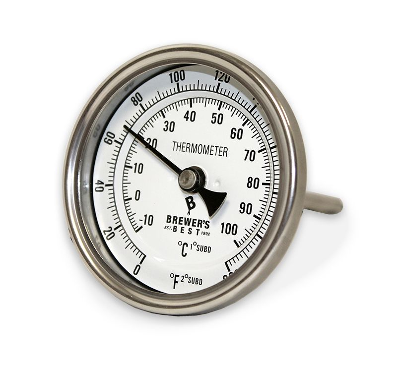 "Brewers Best Brewer's Best Kettle Thermometer 3"" Dial and 4"" Probe"