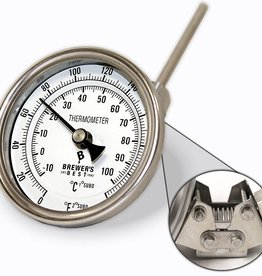 "Brewers Best Brewer's Best Adjustable Kettle Thermometer 3"" Dial and 4"" Probe"