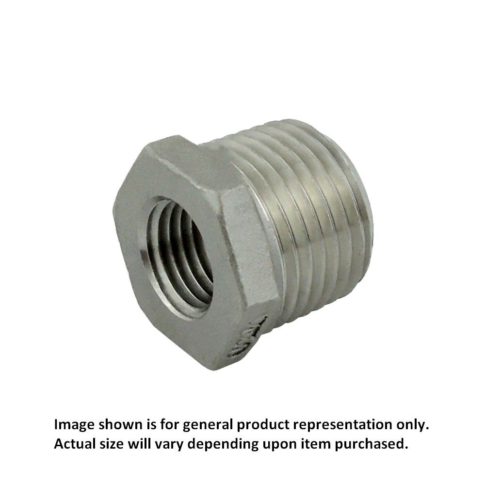 1/2 MPT X 1/4 FPT Bushing S/S