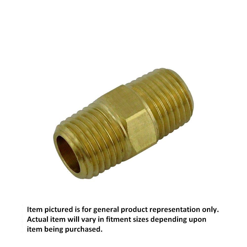 1/4 MPT Hex Nipple RHT Brass
