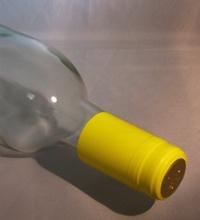 LDC Gloss Yellow PVC Shrink Capsules 30 Pack