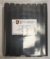 LDC Black PVC Shrink Capsules (500 Bulk)