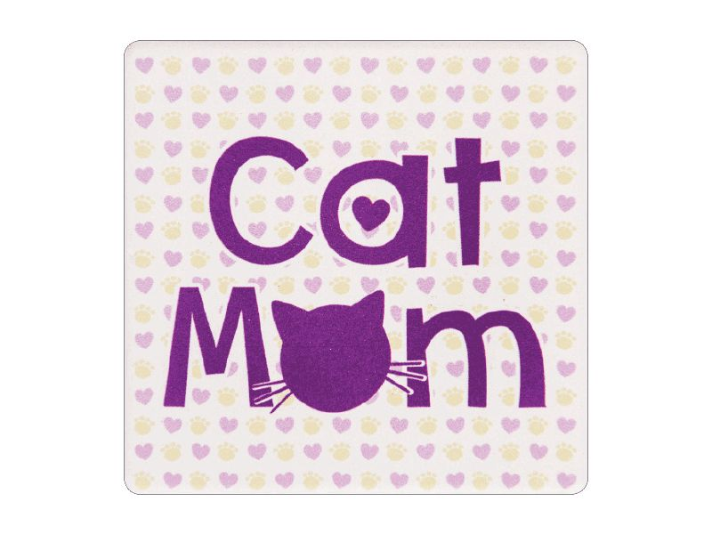 ABSORBENT STONE COASTER - CAT MOM