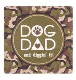 ABSORBENT STONE COASTER - DOG DAD